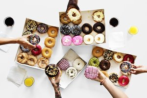 Reaching for donuts