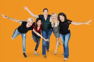 Group of happy women