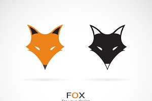 Vector of a fox face design. Animal