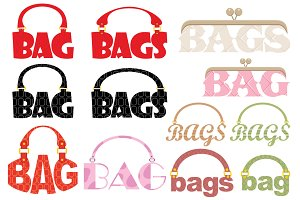 Word of bag in the form of a logotyp