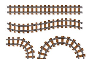 Railway or railroad elements