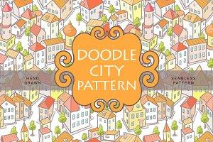 Doodle City Pattern