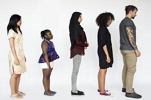 Diverse people concept