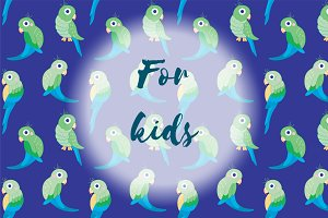 "Patterns for kids ""Parrots"""