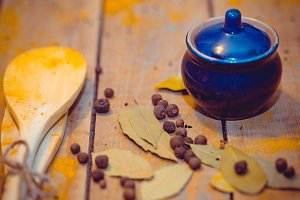 Pumpkin soup and spices # 4