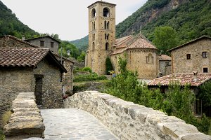 Medieval village of Beget.Girona.Cat