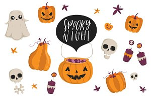 Spooky Night Halloween set