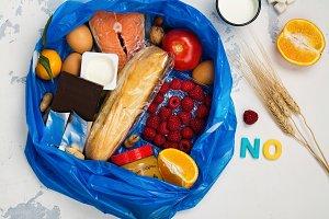 Good food in trash bag