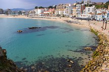 Coastline of Blanes.Catalonia.Spain