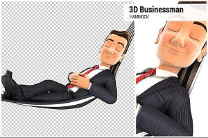 3D Businessman Takes a Nap