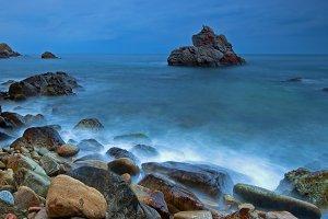 Seascape of the Costa Brava.Llloret