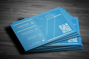 Blue Simple Corporate Business Card