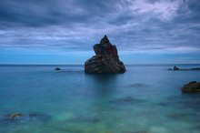 Seascape in the Costa Brava.Spain