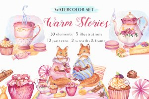Warm Stories Watercolor Set