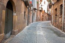 Old door in Cardona.Catalonia.Spain