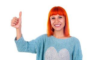 Adorable redhead woman