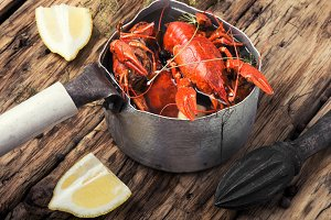 shellfish in the pan