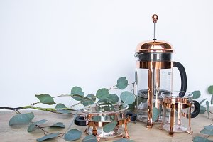 Copper French Press Set Photo