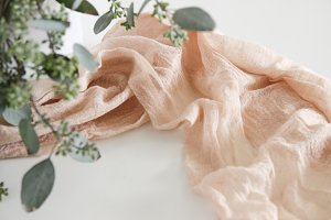 Romantic Fabric & Greens Photo