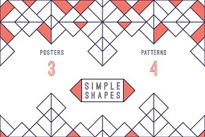 Geometric posters and patterns