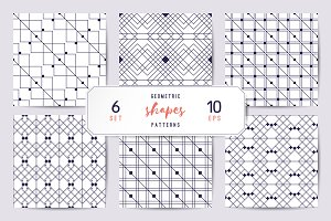 6 geometric seamless patterns
