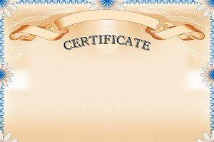 Vintage Certificate with ribbon