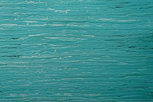 Turquoise wooden board