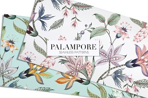 Palampore seamless watercolor print!