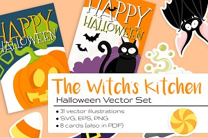The Witch's Kitchen Halloween Set