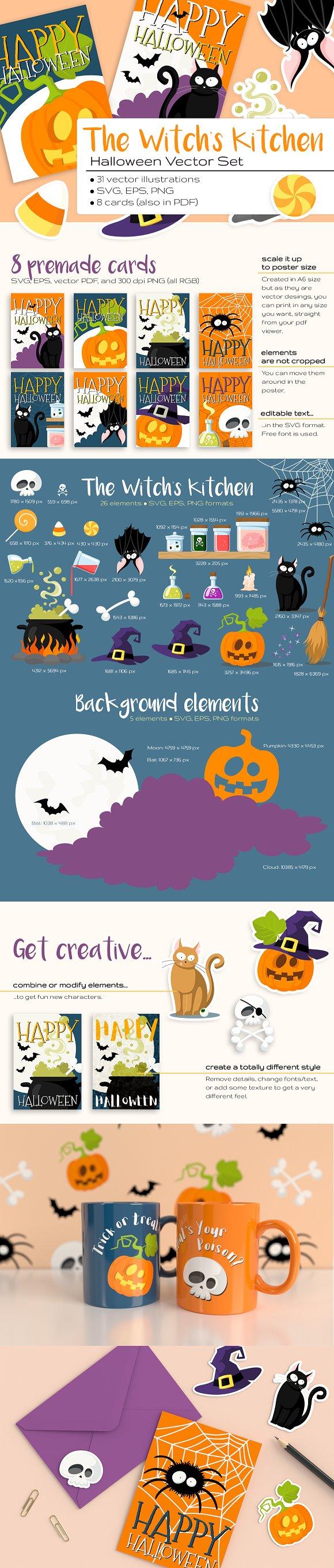The Witch's Kitchen Halloween Set