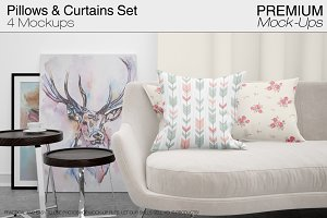 Pillows & Curtains Set