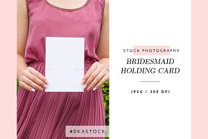 Bridesmaid Holding Card - SP035
