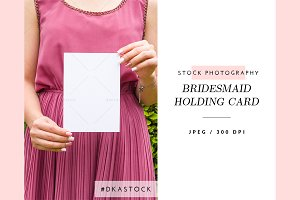 Bridesmaid Holding Card - SP036