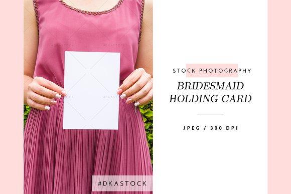 Bridesmaid Holding Card - SP037