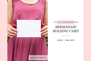 Bridesmaid Holding Card - SP038