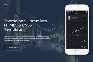"""ThemeOne""-One Page Website Template"