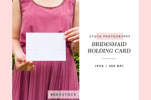 Bridesmaid Holding Card - SP039