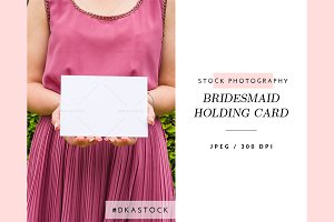 Bridesmaid Holding Card - SP040