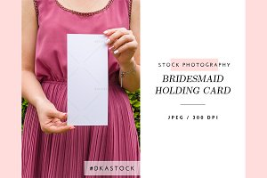 Bridesmaid Holding Card - SP041