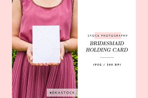 Bridesmaid Holding Card - SP042