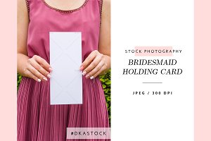 Bridesmaid Holding Card - SP043