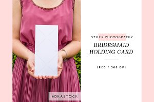 Bridesmaid Holding Card - SP044