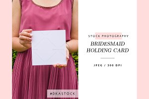 Bridesmaid Holding Card - SP045