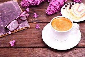 espresso in a white round cup