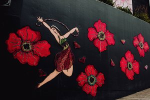 Beautiful City Mural Spanish Dancer