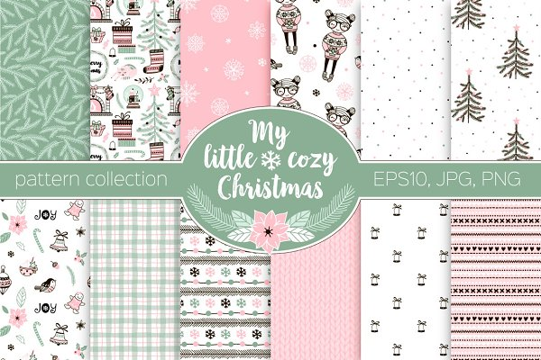 Merry Christmas pattern kit