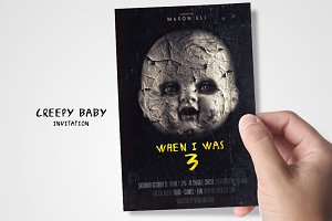 Creepy Baby Doll Invitation