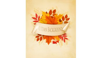 Vintage nature autumn background