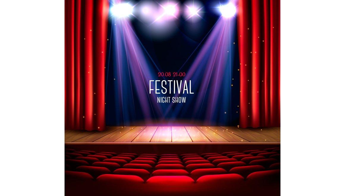 Festival night show background ~ Illustrations ~ Creative Market