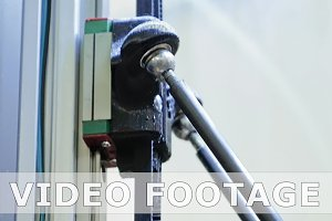 Toothed driven gear lever in robotic equipment